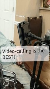 Video Calling with Avonlea Cottage of Dixon Assisted Living and Memory Care